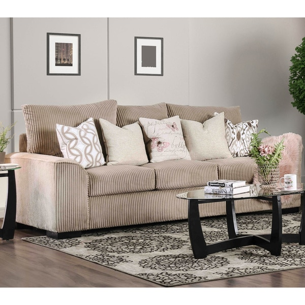 Furniture Of America Bedford Contemporary Corduroy Sofa