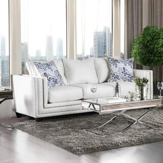 Furniture of America Catalina Contemporary Chenille Nailhead Sofa