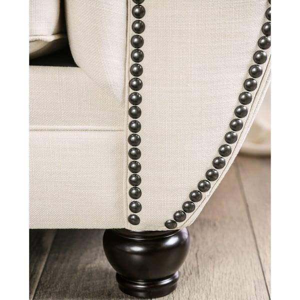 Fantastic Shop Monaco Contemporary Beige Button Tufted Memory Foam Cjindustries Chair Design For Home Cjindustriesco