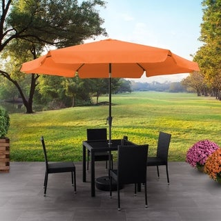 CorLiving 10ft Round Tilting Patio Umbrella