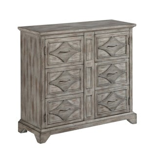 """40""""Rustic Style Accent Cabinet with Two Style Door in Grey with a touch of Brown Finish"""