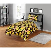 EmojiPals Smiley Face Comforter Set