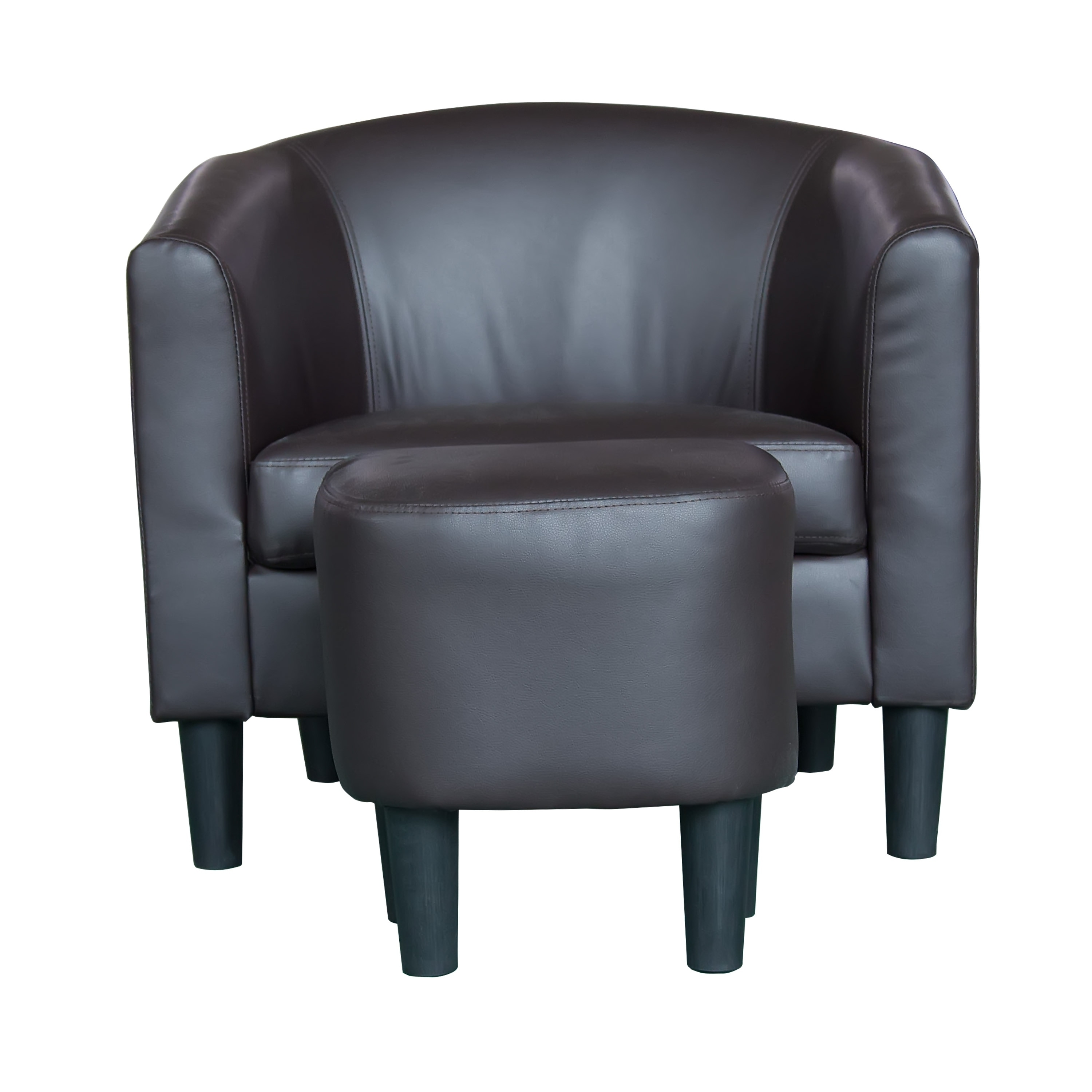 Magnificent Barrel Style Accent Chair With Ottoman Bralicious Painted Fabric Chair Ideas Braliciousco