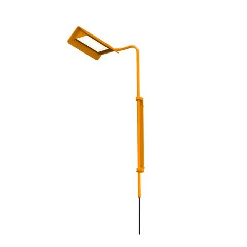 Sonneman Lighting Morii 1-light Satin Orange LED Left Wall Lamp, Satin Orange Shade