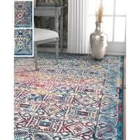"Well Woven Bohemian Vintage Tile Work Area Rug - 7'10"" x 9'10"""