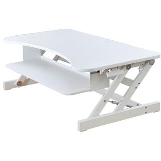 """Rocelco DADR Adjustable Sit to Standing Desk Riser and Converter 37"""""""