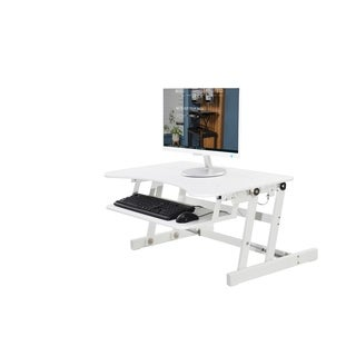"""Rocelco EADR Adjustable Sit To Standing Desk Riser And Converter 32"""""""