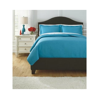 Signature Design by Ashley Raleda Turquoise 3-piece Coverlet Set