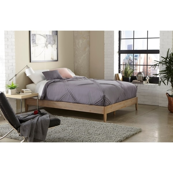 Elegant Simple Living Match Queen Platform Bed