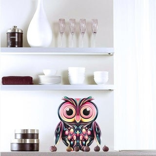 "Owl Full Color Wall Decal Sticker AN-8 FRST Size 22""x27"" Multicolor"