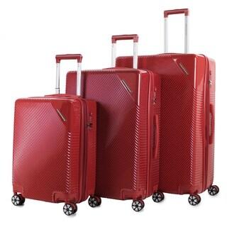 AGT Rockies 3-piece TSA Lock Expandable Hardside Spinner Luggage Set