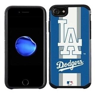 MLB Licensed Slim Hybrid Texture Case for Apple iPhone 6 / 6S / 7 / 8 - Los Angeles Dodgers