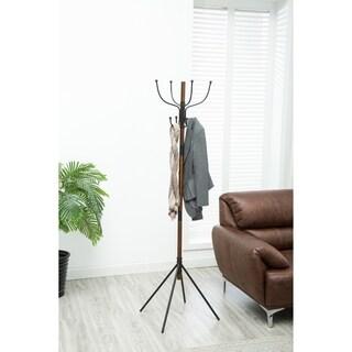 Milton 8-Hook Wooden Standing Coat Rack