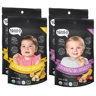 Nosh Smoothie Snaps 100% Fruit Puree Freeze-Dried Toddler Snack Bites - 1 Ounce - Variety Pack (Pack of 4)