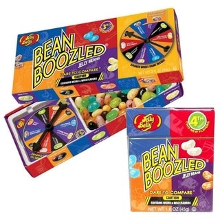 Jelly Belly BeanBoozled Jelly Beans Spinner Gift Box - 3.5 Ounce with Jelly Beans Flip Top Box - 1.6 Ounce
