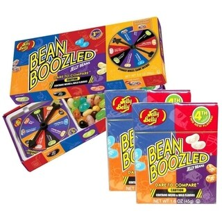 Jelly Belly BeanBoozled Jelly Beans Spinner Gift Box - 3.5 Ounce with Jelly Beans Flip Top Box - 1.6 Ounce - 2 Pack