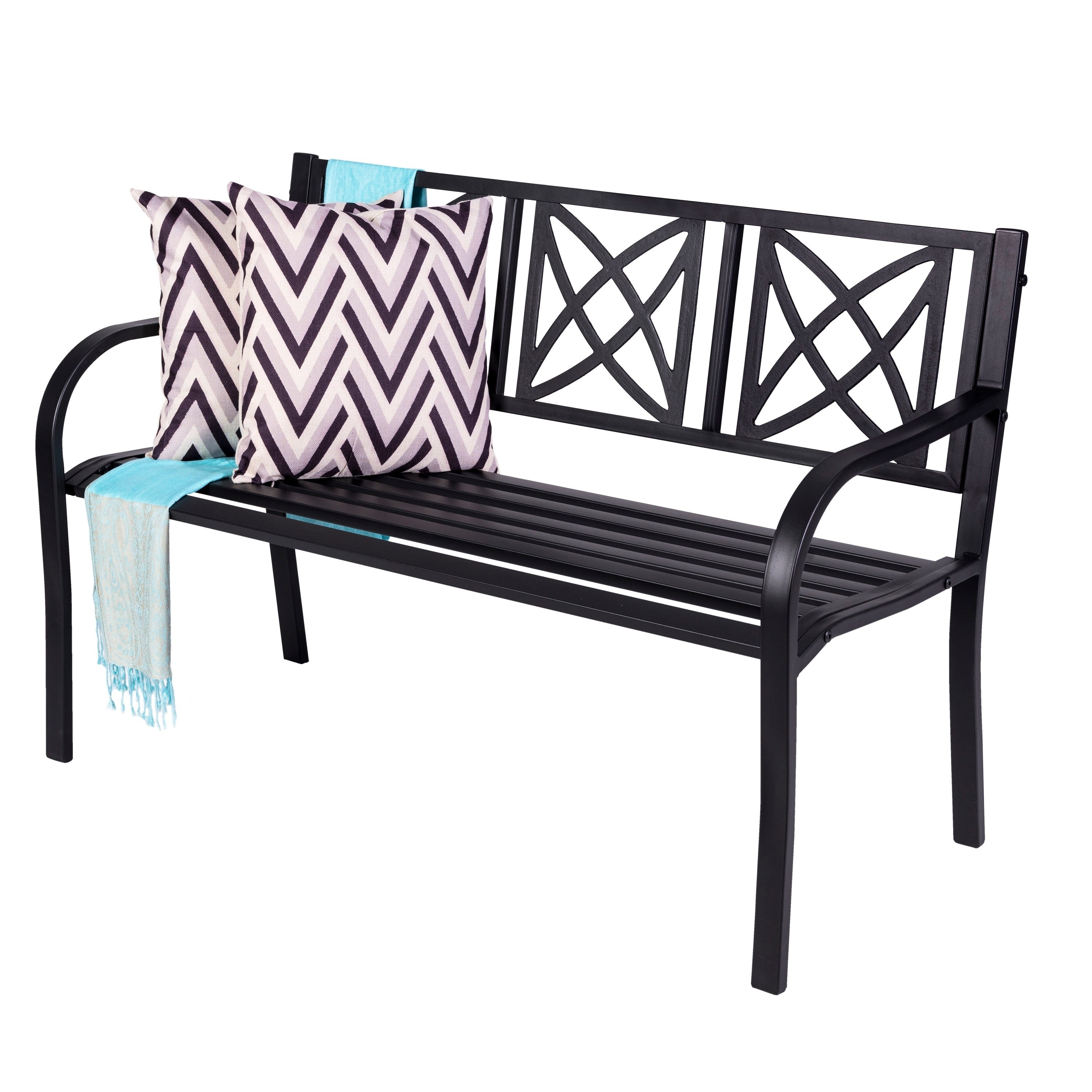 Shop Paracelsus 4 Foot Metal Garden Bench Free Shipping On Orders