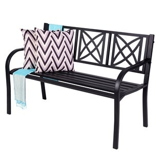 Paracelsus 4-Foot Metal Garden Bench