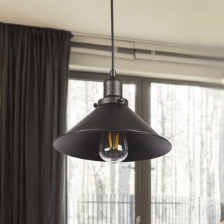 Black Industrial 1-Light Pendant