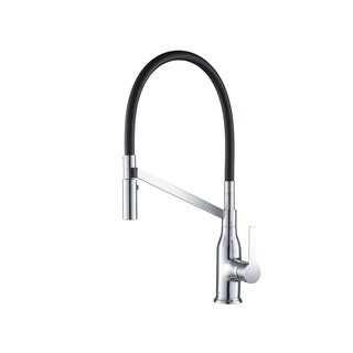 Stufurhome Vallant Gooseneck 1.8 GPM CalGreen Single-Handle Pull-down Sprayer Kitchen Faucet in Chrome