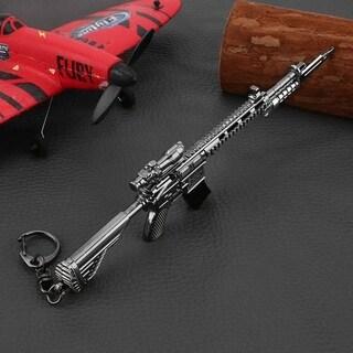 17cm PUBG Props M416 Automatic Rifle Model Metal Keychain - M