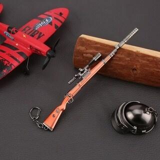 17cm PUBG Props kar98k Sniping Rifle Model Metal Keychain - M