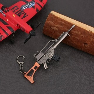 17cm PUBG Props UMP9 Submachine Gun Model Metal Keychain - M