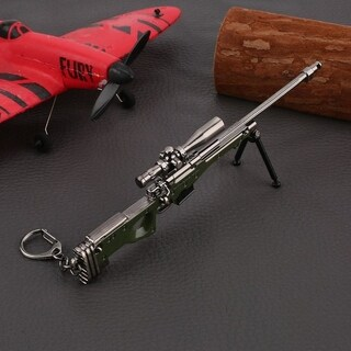 17cm PUBG Props AWM Sniping Rifle Model Metal Keychain - M