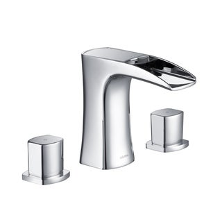 Stufurhome Cascade Bathroom Sink Faucet Set in Matte Black