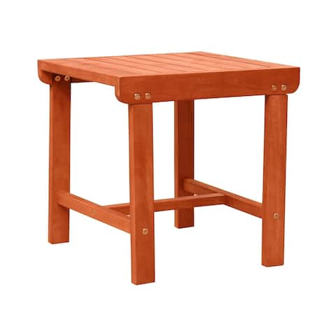 Havenside Home Surfside Outdoor Patio Wood Side Table