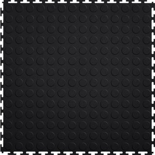 Mats Inc. Protection Garage Interlocking Floor Tiles, Coin, 8 Pack (Option: Black)