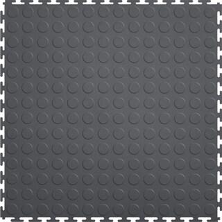 Mats Inc. Protection Garage Interlocking Floor Tiles, Coin, 8 Pack (Option: DARK GREY)