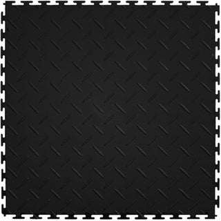 Mats Inc. Protection Garage Interlocking Floor Tiles, Diamond, 8 Pack (Option: Black)
