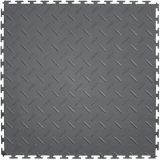 Mats Inc. Protection Garage Interlocking Floor Tiles, Diamond, 8 Pack (Option: DARK GREY)