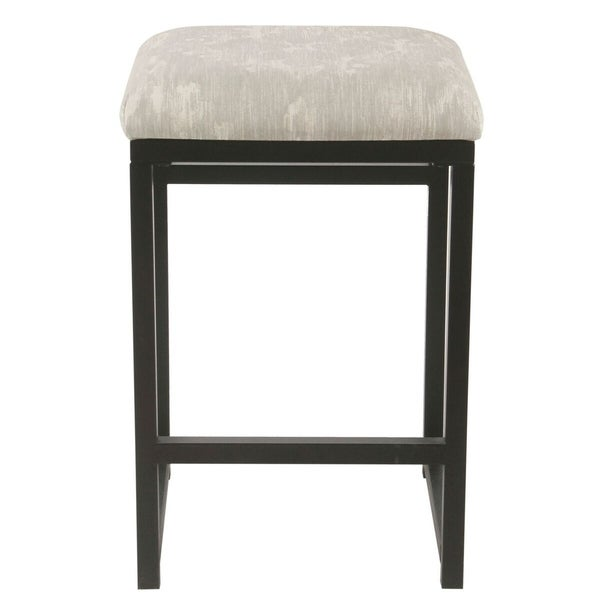 shop strick bolton kanso 24 inch backless grey ikat counter stool free shipping today. Black Bedroom Furniture Sets. Home Design Ideas