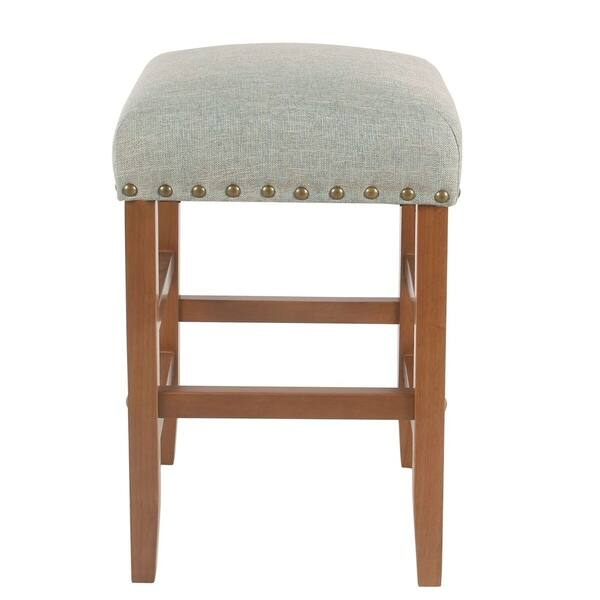 Super Shop Homepop Blake 24 Backless Counter Stool With Nailheads Cjindustries Chair Design For Home Cjindustriesco