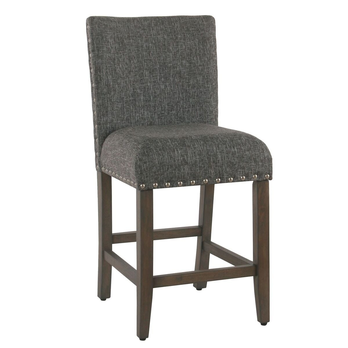 Awe Inspiring Porch Den Robin Slate Grey Nailhead Counter Stool Andrewgaddart Wooden Chair Designs For Living Room Andrewgaddartcom