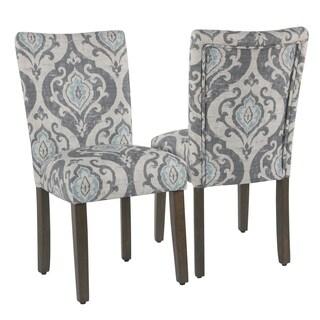 Homepop Classic Parsons Dining Chair - Suri Blue - set of 2