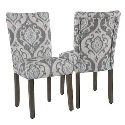 HomePop Classic Parsons Suri Slate Blue Dining Chair (Set of 2)