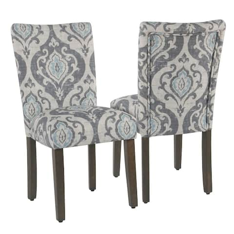 HomePop Classic Parsons Dining Chair - Suri Blue Slate- Set of 2