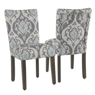 Link to HomePop Classic Parsons Suri Slate Blue Dining Chair (Set of 2) Similar Items in Dining Room & Bar Furniture