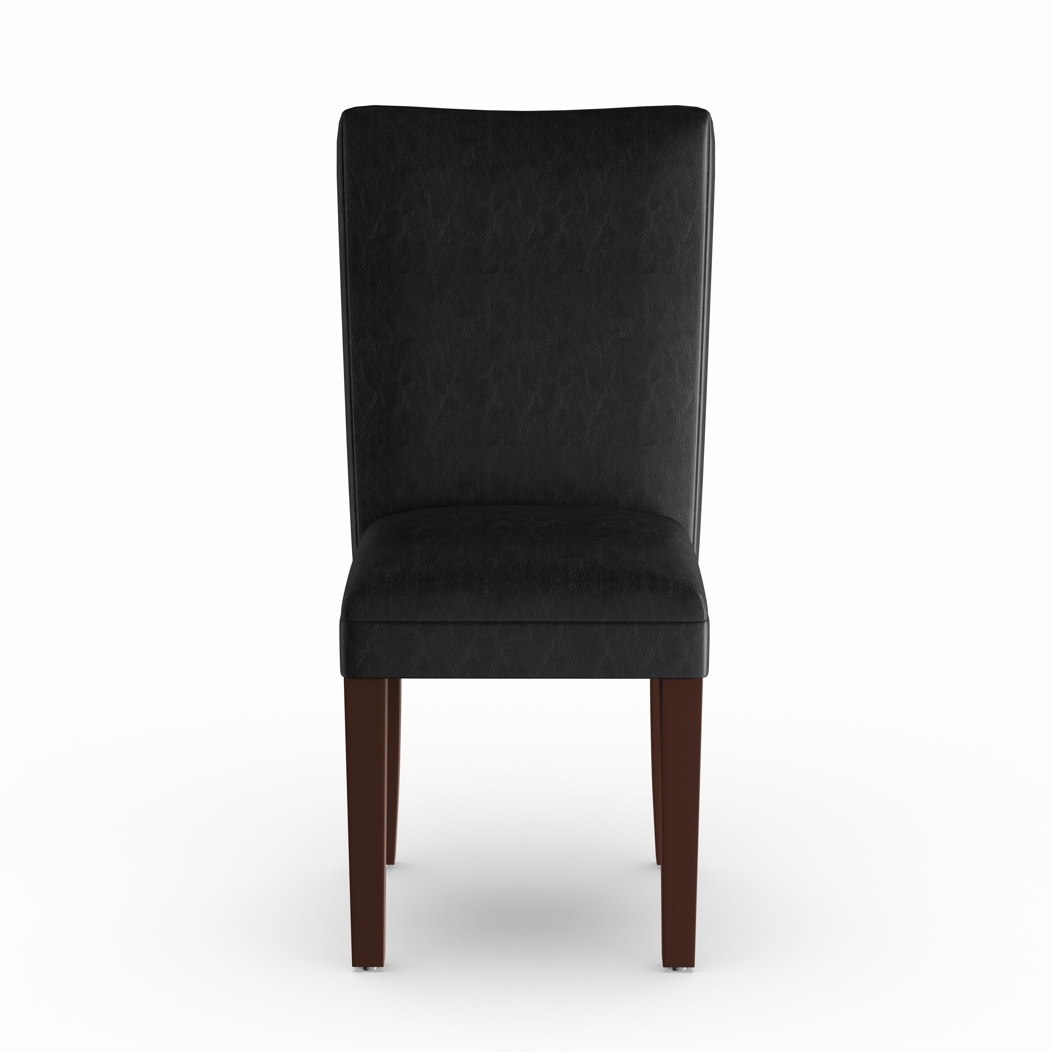 Homepop Parsons Dining Chair Black Faux Leather Set Of 2