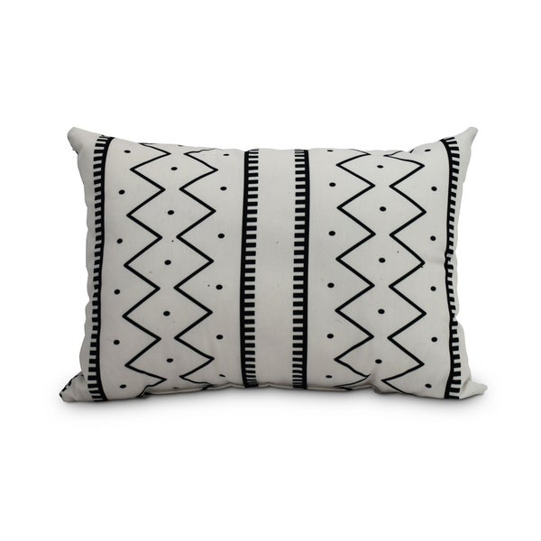 Shop Mudcloth 14 X 20 Inch Cream Abstract Decorative Outdoor Pillow
