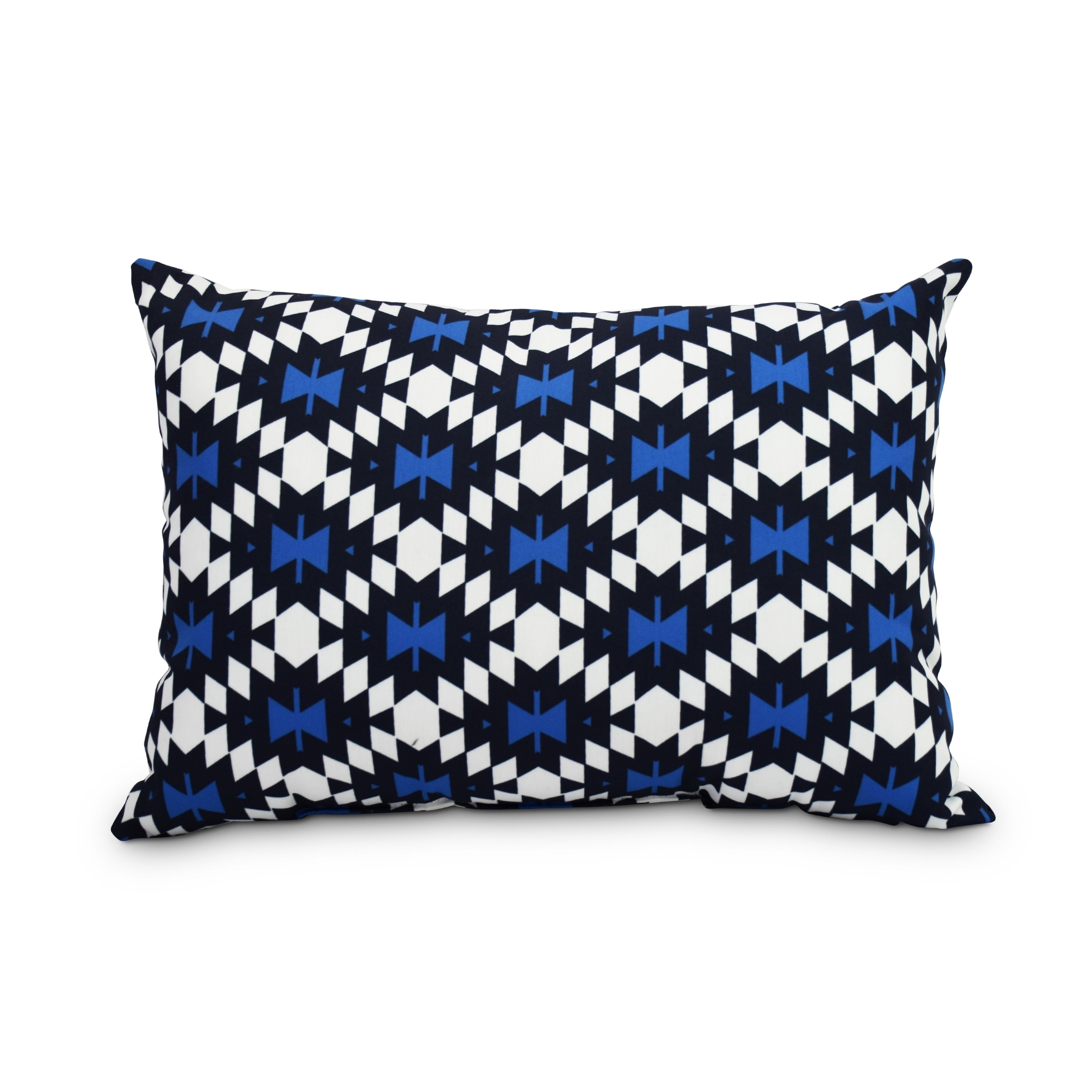 Shop Jodhpur Kilim 14 X 20 Inch Navy Blue Decorative Abstract Outdoor Throw Pillow Overstock 20675102