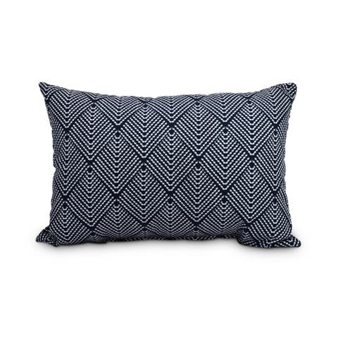 Lifeflor 14 x 20 inch Navy Blue Abstract Decorative Outdoor Pillow