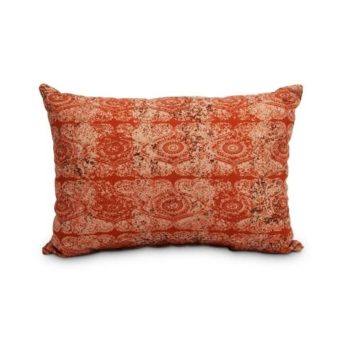 Patina 14 x 20 Inch Orange/Rust Decorative Abstract Outdoor Throw Pillow