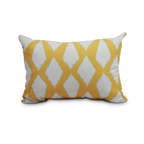 14 x 20 inch Yellow Decorative Abstract Outdoor Pillow
