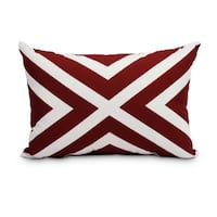 14 x 20 Inch Red Decorative Striped Outdoor Throw Pillow