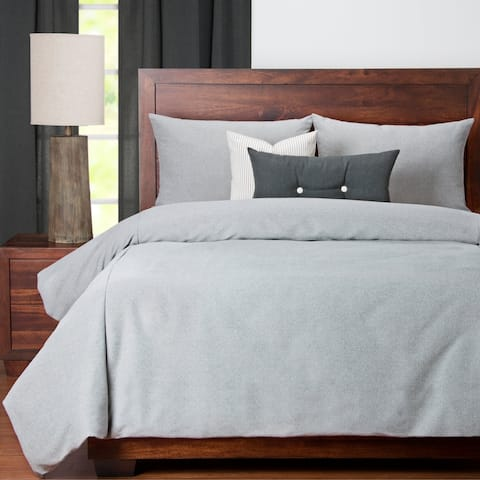 Revolution Plus Everlast Stone Grey Stain Resistant Luxury Duvet Set