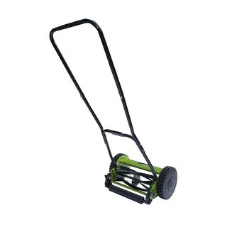 ALEKO 12 Inch Hand Push Lawn Mower Adjustable Cutting Height